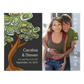 Eco Tree Wedding Save the Date Postcard
