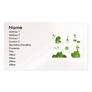 eco-vectors-10108-large, Name, Address 1, Addre... Double-Sided Standard Business Cards (Pack Of 100)
