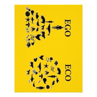 Eco vs Ego Letterhead Design