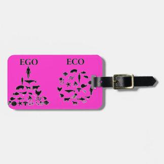 Eco vs Ego Travel Bag Tag