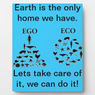 Eco vs Ego Plaque