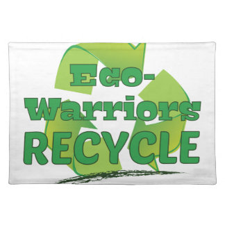 Eco Warriors Recycle Cloth Place Mat