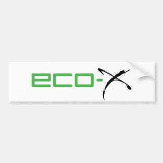Eco-X Sports Car Bumper Sticker