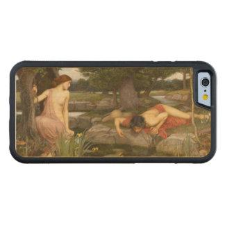 Eco y narciso de John William Waterhouse Funda De iPhone 6 Bumper Arce