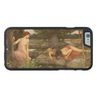 Eco y narciso de John William Waterhouse Funda De iPhone 6 Carved® De Arce