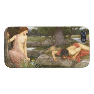 Eco y narciso de John William Waterhouse iPhone 5 Carcasas