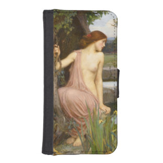 Eco y narciso de John William Waterhouse Fundas Tipo Cartera Para iPhone 5