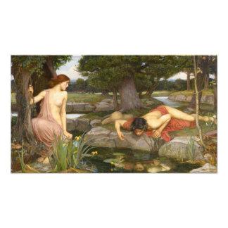 Eco y narciso de John William Waterhouse Impresion Fotografica
