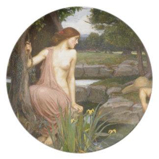 Eco y narciso de John William Waterhouse Plato De Comida
