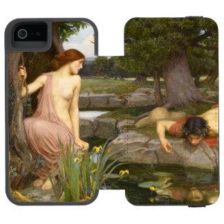 Eco y narciso de John William Waterhouse Funda Cartera Para iPhone 5 Watson