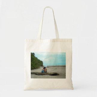 Ecobag couple contemplating the sea tote bag