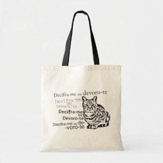 "Ecobag ""Deciphers me or devoro you "" Tote Bag"