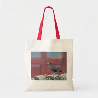 EcoBag: Female Blackbird Canvas Bags