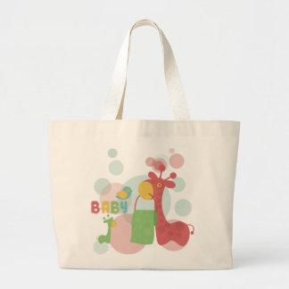 Ecobag Giraffe Baby Color Large Tote Bag