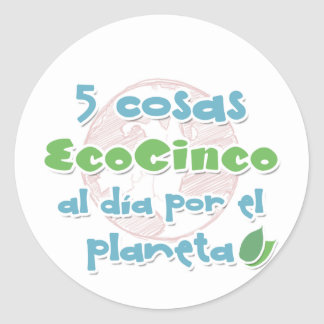 EcoCinco - an initiative by the planet Classic Round Sticker