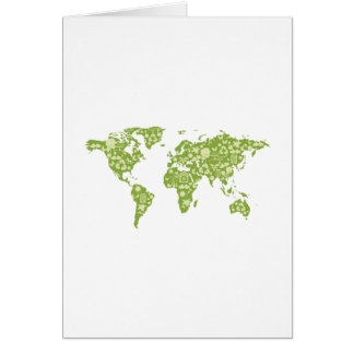 Ecofriendly Map Card