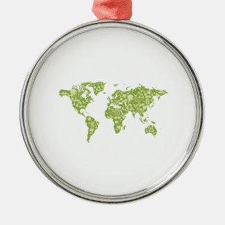 Ecofriendly Map Metal Ornament