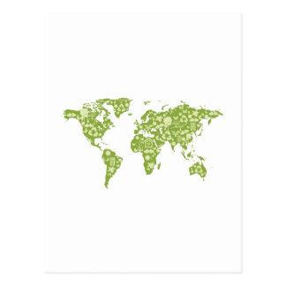 Ecofriendly Map Postcard