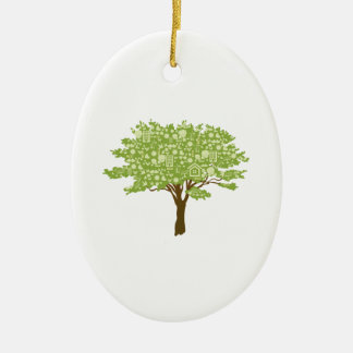 Ecofriendly Tree Ceramic Ornament