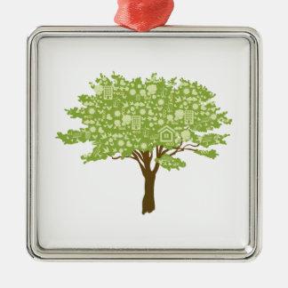 Ecofriendly Tree Metal Ornament