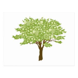 Ecofriendly Tree Postcard