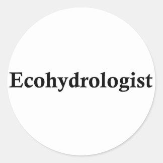 Ecohydrologist Classic Round Sticker