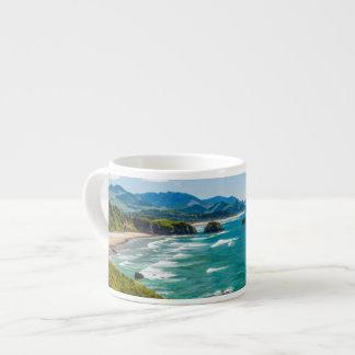 Ecola State Park, Oregon. Panorama of Crescent Espresso Cup