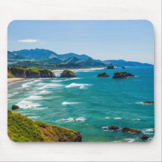 Ecola State Park, Oregon. Panorama of Crescent Mouse Pad