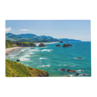 Ecola State Park, Oregon. Panorama of Crescent Placemat