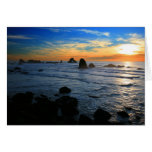 Ecola State Park Sunset Greeting Cards