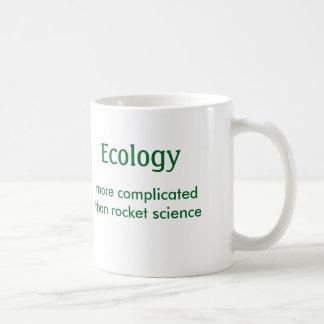 Ecología, complicada que la ingeniería espacial - taza de café