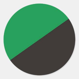 ecología del negro del verde de la bandera del eco pegatina redonda