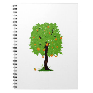 Ecología design.png del árbol anaranjado libreta