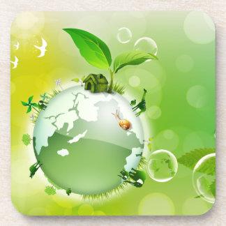 Ecología: la tierra es nuestra casa - posavasos para bebidas