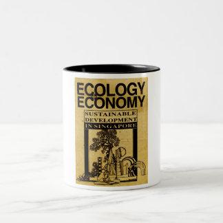 """""""Ecología o economía en Singapur """" Taza Dos Tonos"""