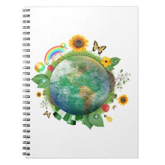 Ecología: recicle - cuaderno