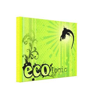 Ecologic Causes Environment Awareness Gecko green Canvas Print
