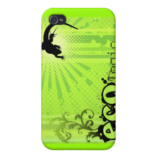 Ecologic Causes Environment Awareness Gecko green iPhone 4 Cases