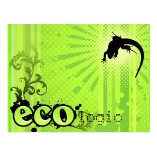 Ecologic Causes Environment Awareness Gecko green Postcard