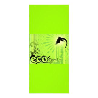 Ecologic Causes Environment Awareness Gecko green Personalized Rack Card