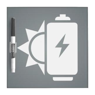 Ecological Batteries Pictogram Dry Erase Board