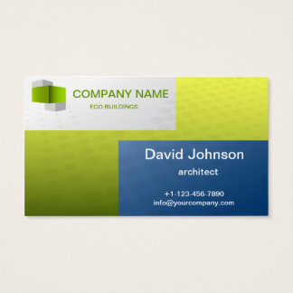 ecological building business card