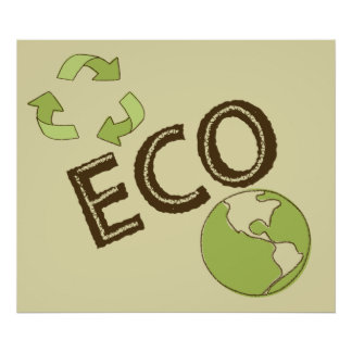 Ecological Eco Friendly Earth Poster Recycle