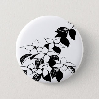 Ecological floral flowers leaf button