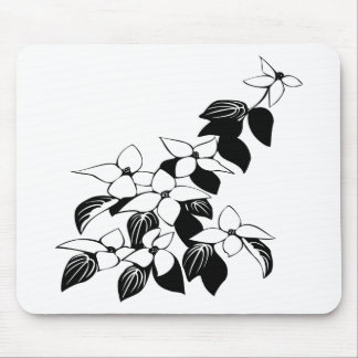 ecological floral flowers leaf mouse pad