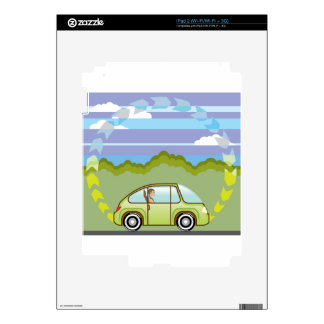 Ecological Green car self-driving iPad 2 Decals