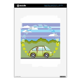 Ecological Green car self-driving iPad 3 Decals