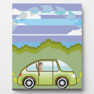 Ecological Green car self-driving Plaque