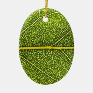 Ecological green leaf ceramic ornament