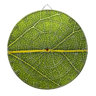 Ecological green leaf dartboard